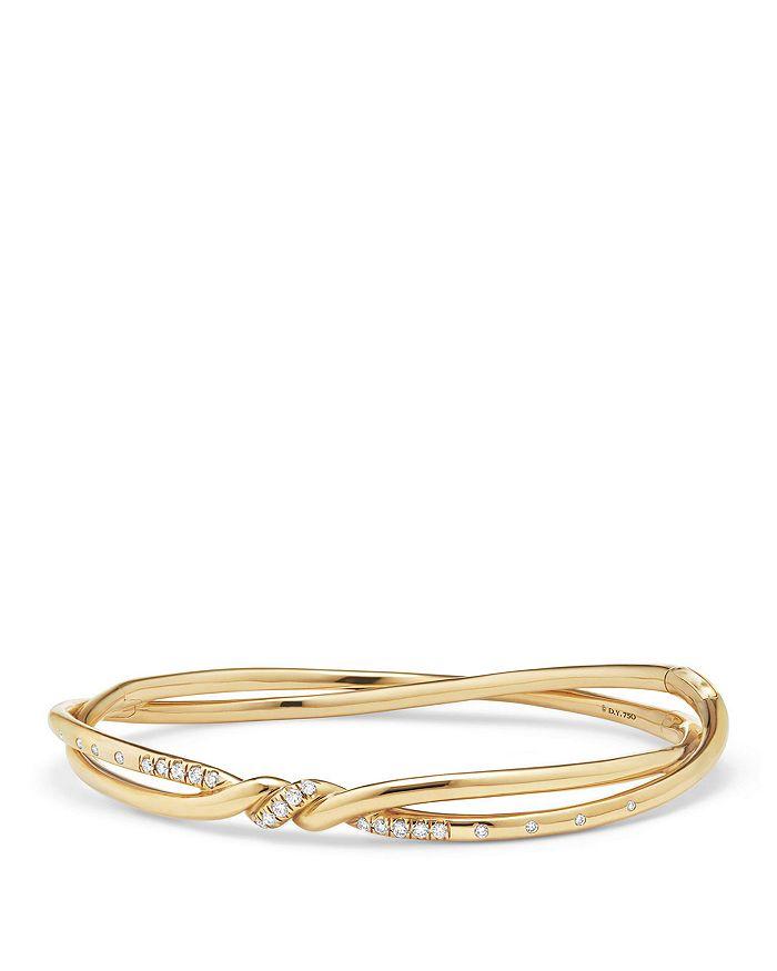 David Yurman - Continuance Center Twist Bracelet with Diamonds in 18K Gold
