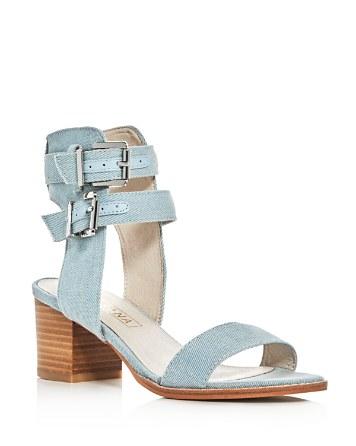 $Sol Sana Porter Denim Ankle Strap Sandals - Bloomingdale's