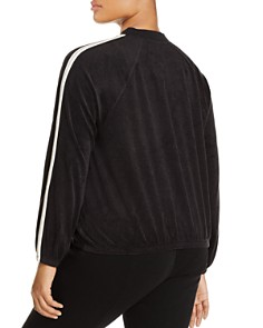 Juicy Couture Black Label Plus - Plus Microterry Stripe Track Jacket - 100% Exclusive