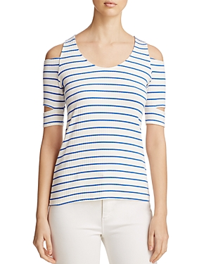 Red Haute Cutout Striped Tee