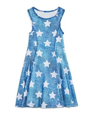 Terez Girls Denim Look Star Dress  Big Kid