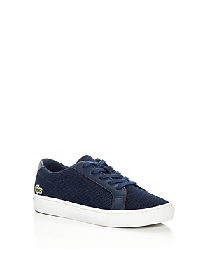 Lacoste Boys' Pique Knit Lace Up Sneakers - Toddler, Little Kid