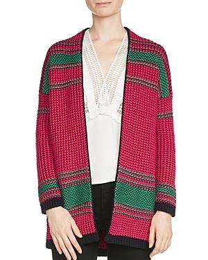 Maje Meditation Striped Cardigan