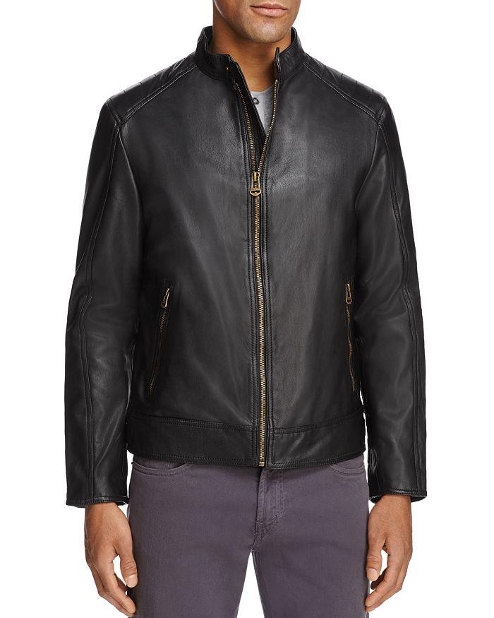 Cole Haan - Leather Moto Jacket