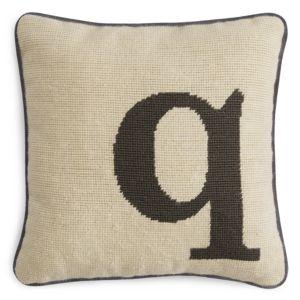 Sparrow & Wren Letter Needlepoint Decorative Pillow, 12 x 12 - 100% Exclusive