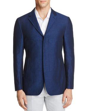 John Varvatos Star Usa Luxe Chambray Slim Fit Sport Coat with Slash Pockets