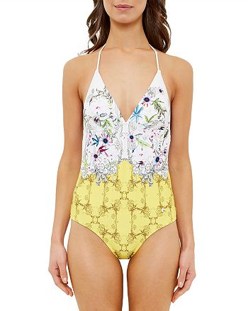 54b0600adfb90 Ted Baker Roulla Passion Flower One-Piece Swimsuit | Bloomingdale's