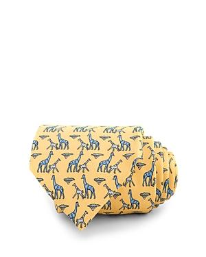 Thomas Pink Giraffe Family Print Classic Tie