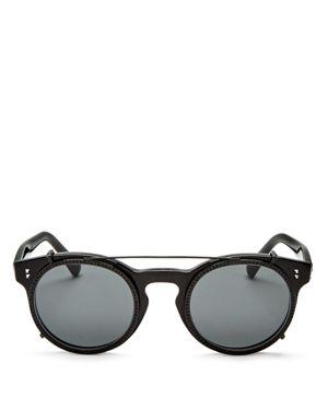 Valentino Round Sunglasses, 45mm