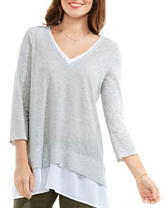 VINCE CAMUTO - Mixed Media Top