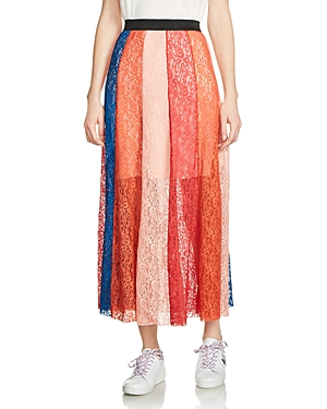 Maje Jupiter Lace Midi Skirt