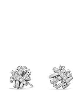 David Yurman - Crossover Earrings with Diamonds