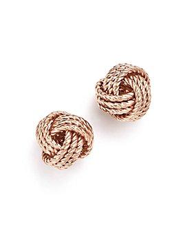Bloomingdale's - 14K Rose Gold Love Knot Earrings