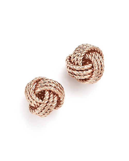 Bloomingdale S 14k Rose Gold Love Knot Earrings