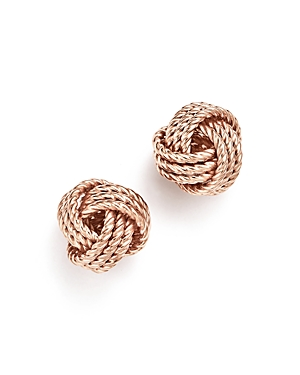 14K Rose Gold Love Knot Earrings