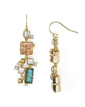 Alexis Bittar Geometric Stone Drop Earrings