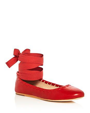 Via Spiga - Women's Baylie Ankle Tie Ballet Flats