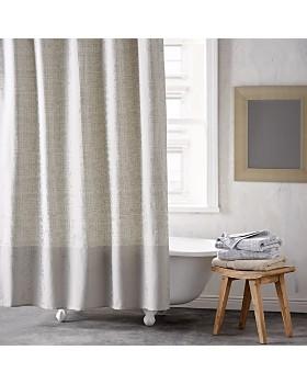 Silver Missoni Shower Curtain