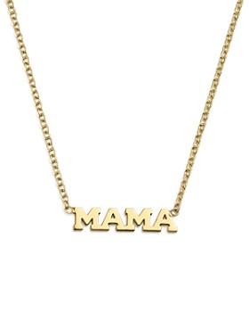 "Zoë Chicco - 14K Yellow Gold Itty Bitty Mama Necklace, 16"""
