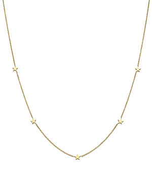 Zoe Chicco 14K Yellow Gold Star Station Necklace, 16
