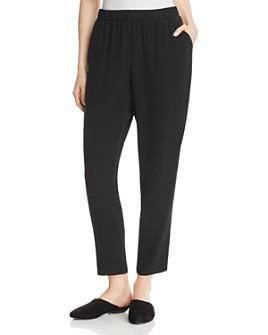 Eileen Fisher - Slouchy Silk Ankle Pants, Regular & Petite