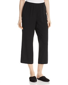 Eileen Fisher Petites - Straight Crop Silk Pants