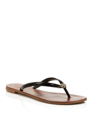 c61abd1e15c Tory Burch Terra Thong Patent Leather Flip-Flop Sandals
