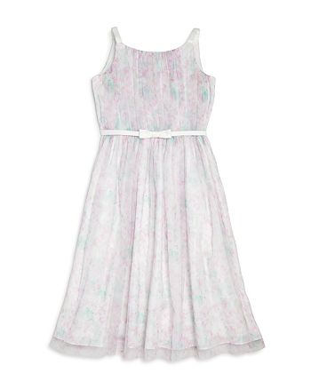 US Angels - Girls' Pleated Mesh Dress - Little Kid