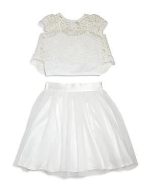 Us Angels Girls Lace Top  Skirt Set  Little Kid