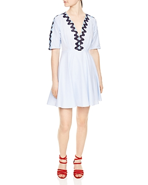 Sandro Mikky Embroidered Dress