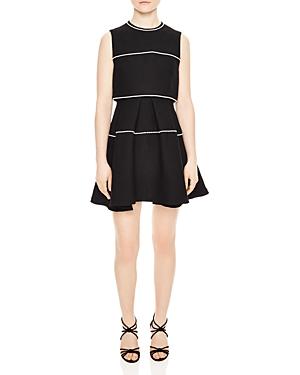 Sandro Pearl Embellished Dress