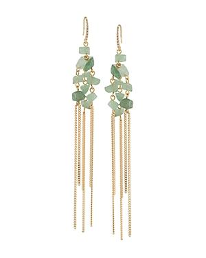 Abs by Allen Schwartz Linear Stone Drop Earrings