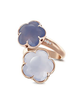 Pasquale Bruni - 18K Rose Gold Wrap Ring with Chalcedony and Diamonds