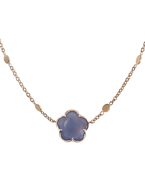Pasquale Bruni 18K Rose Gold Floral Chalcedony Pendant Necklace, 16