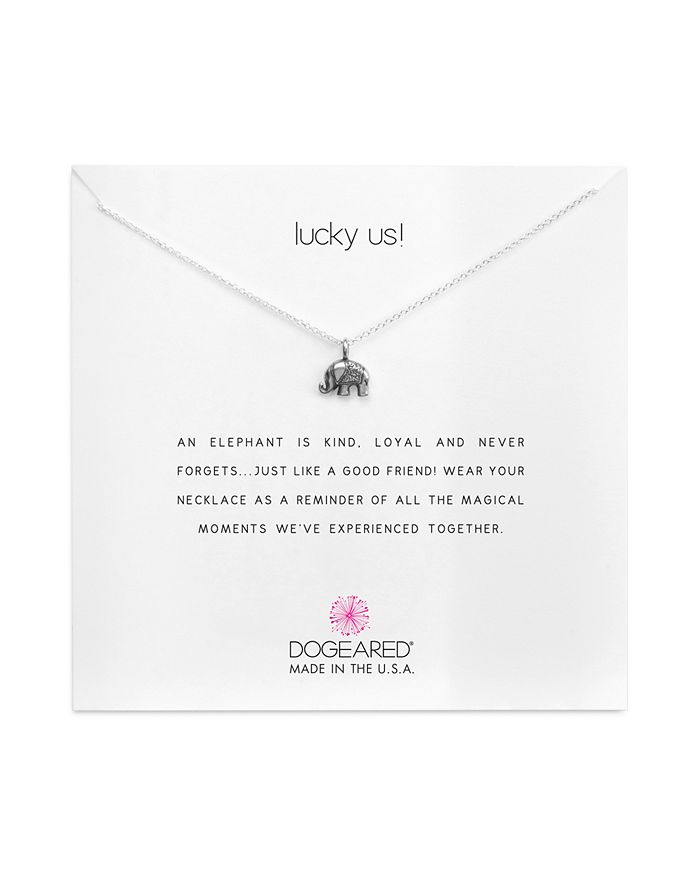 """Dogeared - Lucky Us Necklace, 18"""""""