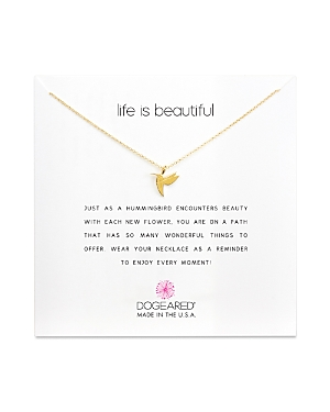Dogeared Life is Beautiful Necklace, 16