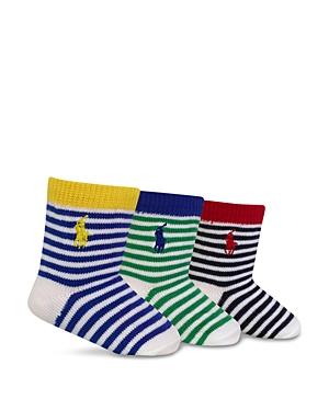 Ralph Lauren Childrenswear Infant Boys St James Stripe Socks 3 Pack  Sizes 06 Months