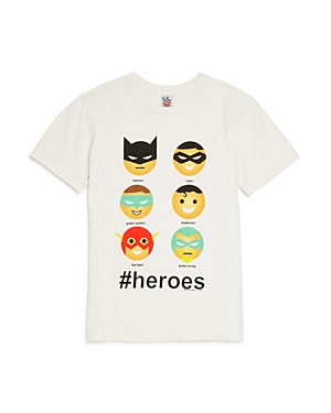 Junk Food Boys' #Heroes Emoji Tee - Sizes Xxs-xxl