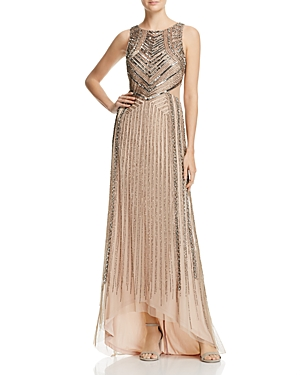 Adrianna Papell Sleeveless Beaded Cutout Gown