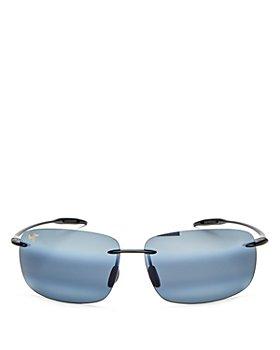 Maui Jim - Unisex Breakwall Polarized Rimless Square Sunglasses, 63mm