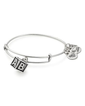 Alex and Ani - Baby Block Expandable Wire Bangle