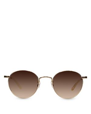 Garrett Leight Men's Wilson Mirrored Round Sunglasses, 49mm