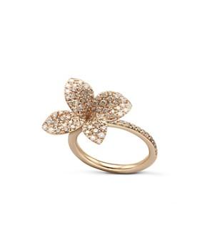 Pasquale Bruni - 18K Rose Gold Secret Garden Pavé Diamond Four Petal Flower Ring