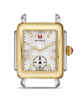 MICHELE - Deco Mid Two-Tone Diamond Dial Watch Head, 29 x 31mm