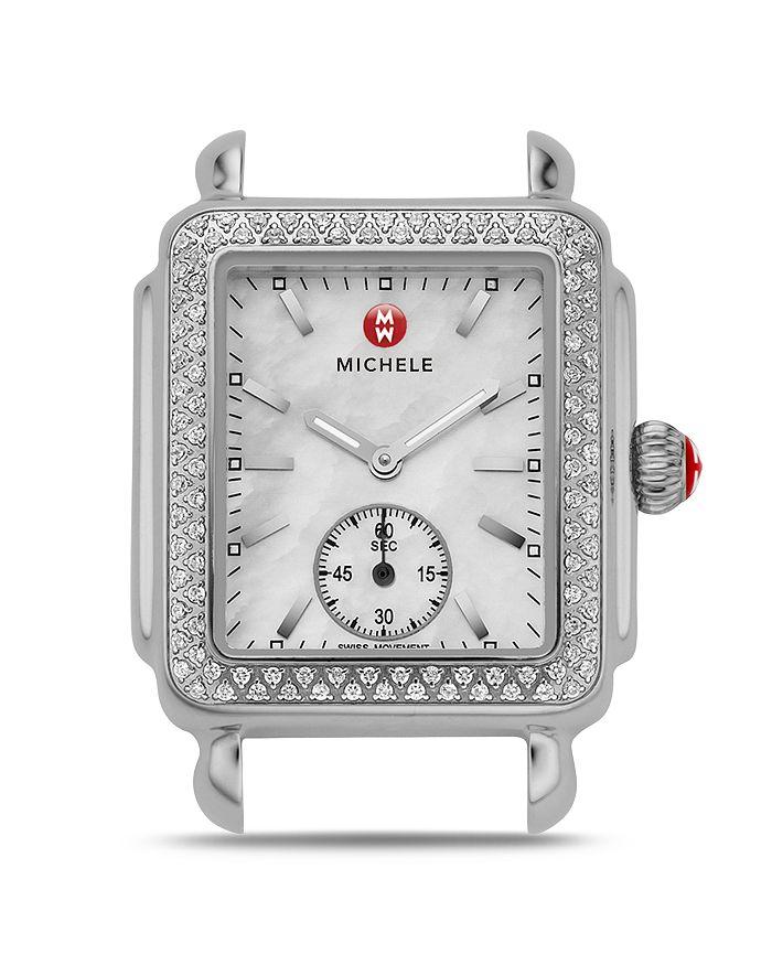 MICHELE - Deco Mid 16 Diamond Stainless Steel Watch Head, 29 x 31mm