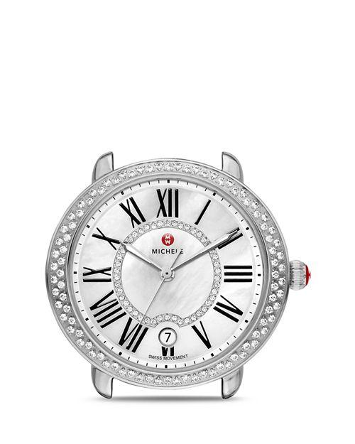 MICHELE - Serein 16 Diamond Dial Watch Head, 36 x 34mm