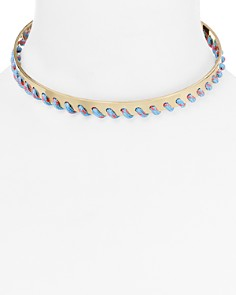 Rebecca Minkoff Whipstitch Collar Necklace - Bloomingdale's_0