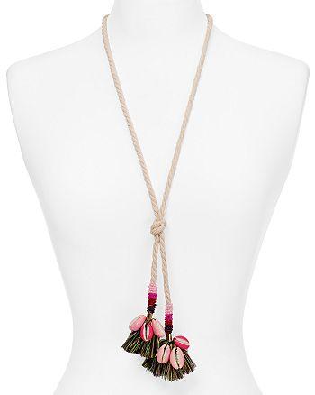 "Rebecca Minkoff - Lola Rope Lariat Necklace, 28"""
