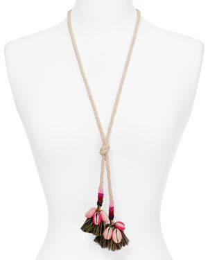 Rebecca Minkoff Lola Rope Lariat Necklace, 28