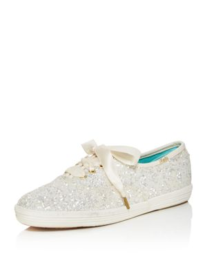 kate spade new york x Keds Glitter Lace Up Low Top Sneakers